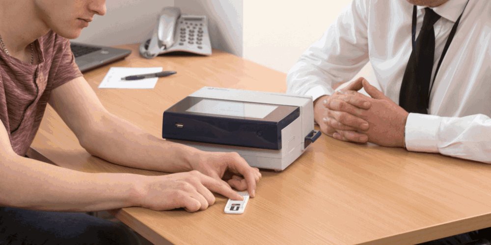 Contractor introduces fingerprint drug testing