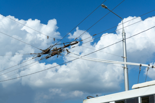 Catenary lines could power lorries