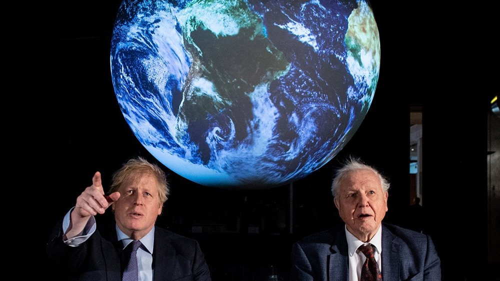 PM and Attenborough at COP26 launch