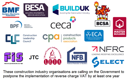 Construction industry calls for reverse VAT delay